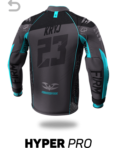 Hyper Pro Custom Paintball Jersey - Back View