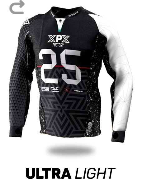 Ultra Light Custom Paintball Jersey - Front View
