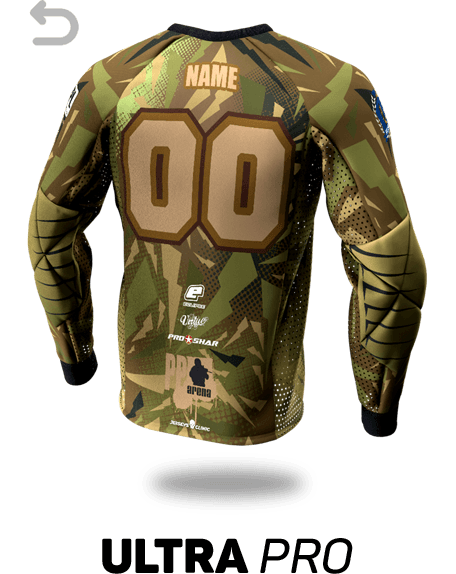Ultra Pro Custom Paintball Jersey - Back View