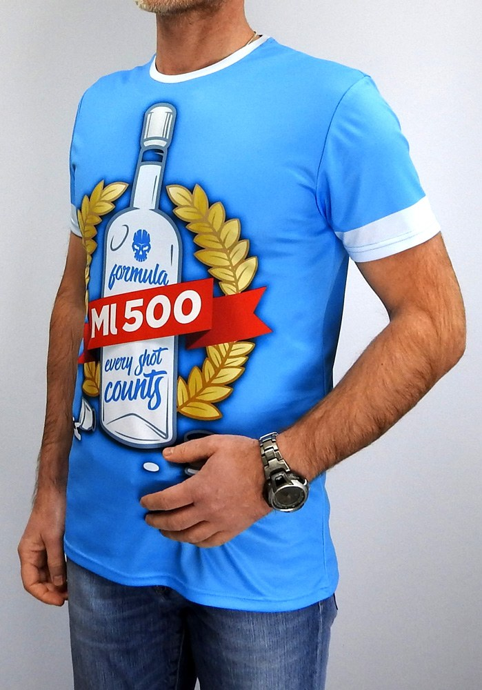 100% Custom Men's running COOLMAX® Tshirt