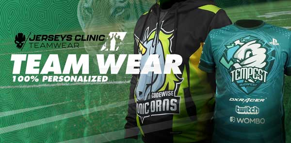 Custom Teamwear. 100% personalized shirts, jackets, hoodies for for Your team!